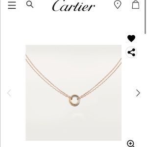 Cartier TRINITY NECKLACE WHITE YELLOW ROSE GOLD